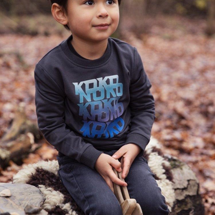 Koko Noko jongens sweater donkergrijs | F40858-37