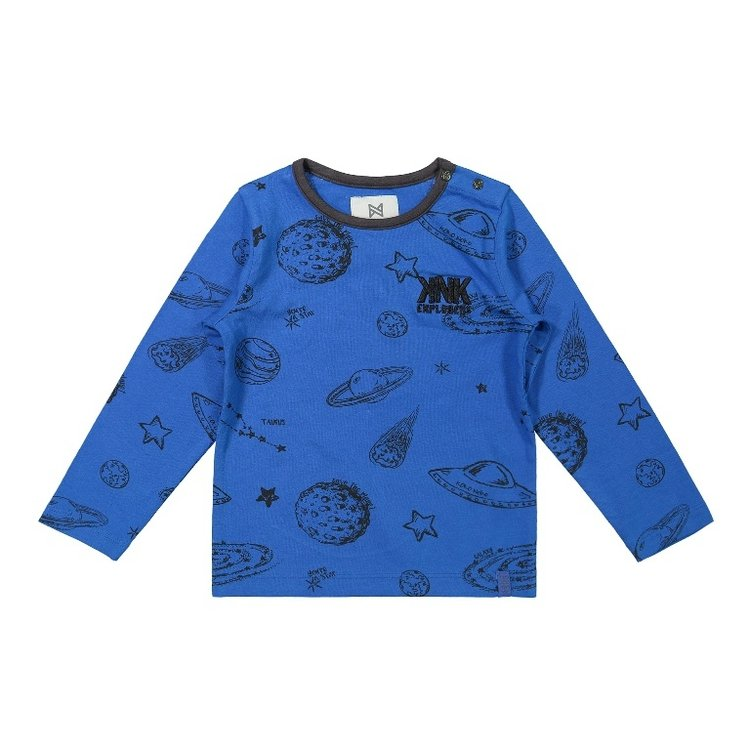 Koko Noko boys shirt blue planets   F40860-37
