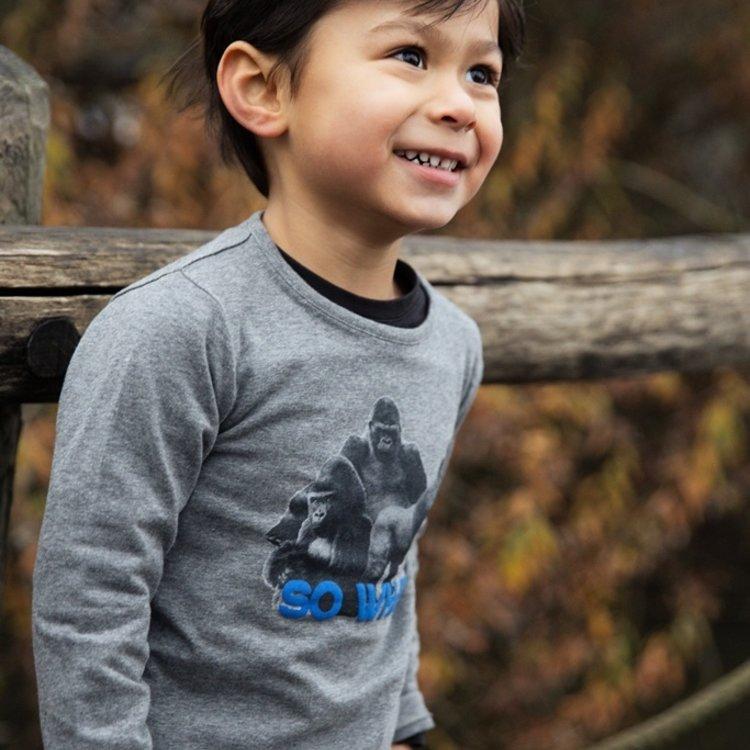 Koko Noko jongens shirt grijs gorilla   F40862-37