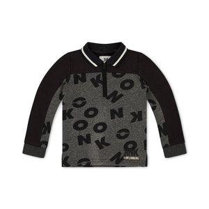 Koko Noko boys polo sweater gray with letters