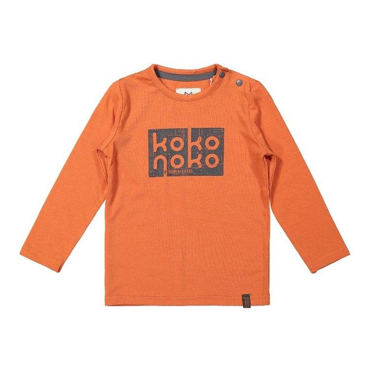 Koko Noko jongens shirt faded oranje | F40867-37