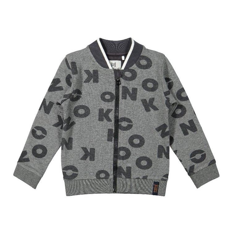 Koko Noko jongens vest grijs   F40869-37