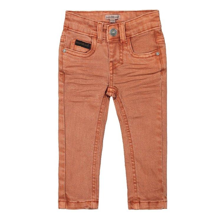 Koko Noko jongens jeans faded oranje | F40872-37
