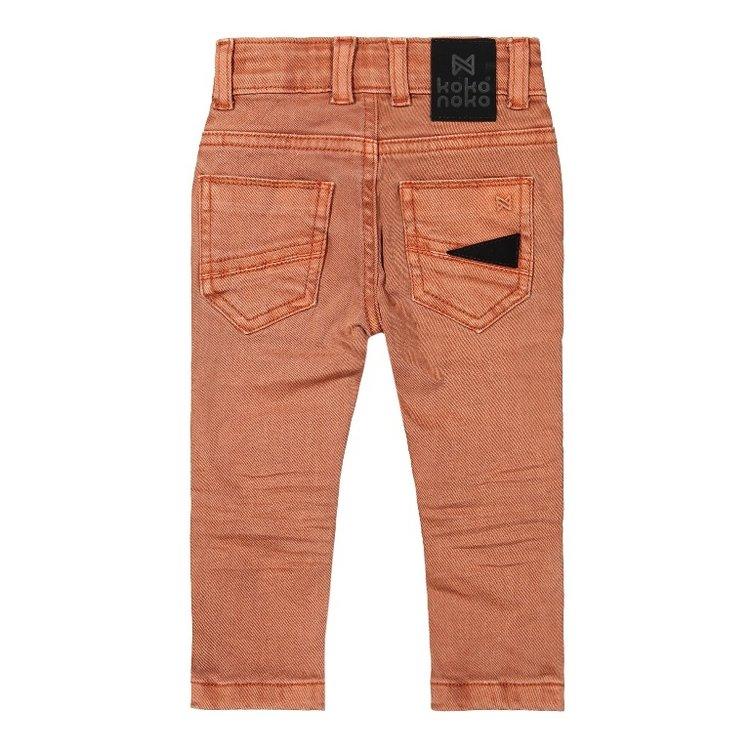 Koko Noko Jungen Jeans verblasst orange   F40872-37