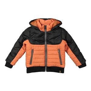Koko Noko jongens jas donkergrijs oranje