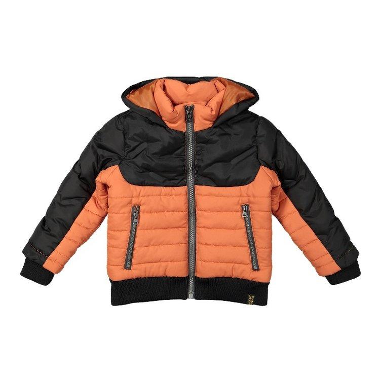 Koko Noko jongens jas donkergrijs oranje | F40873-37