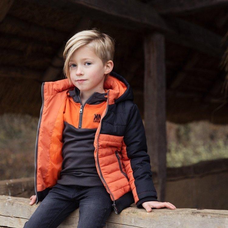 Koko Noko Jungen Jacke dunkelgrau orange   F40873-37