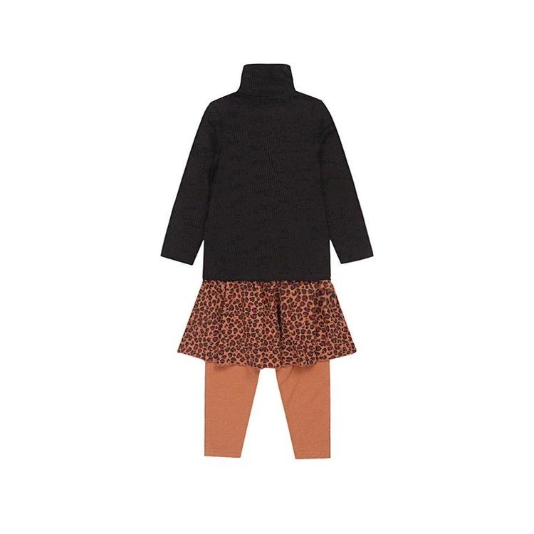 Koko Noko girls 3-piece set black camel panther | F40995-37