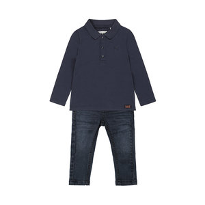 Koko Noko boys 2-piece set dark blue polo with jeans