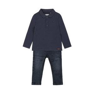 Koko Noko jongens 2-delige set donkerblauwe polo met jeans