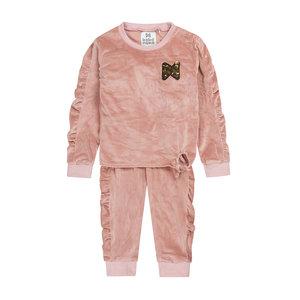 Koko Noko girls 2-piece set jumper with sweatpants old pink