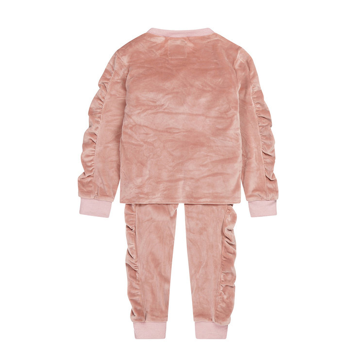 Koko Noko girls 2-piece set jumper with sweatpants old pink | F40994-37