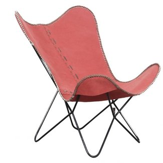Pole to Pole Vlinderstoel, retro rood