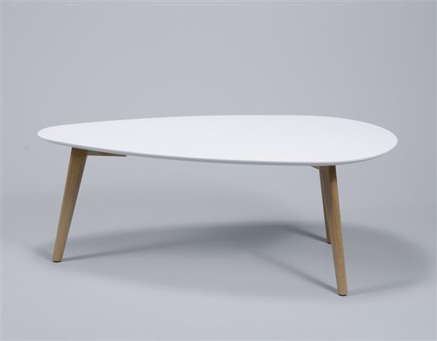 Alaska Salontafel 100x50cm MDF/Oak wit