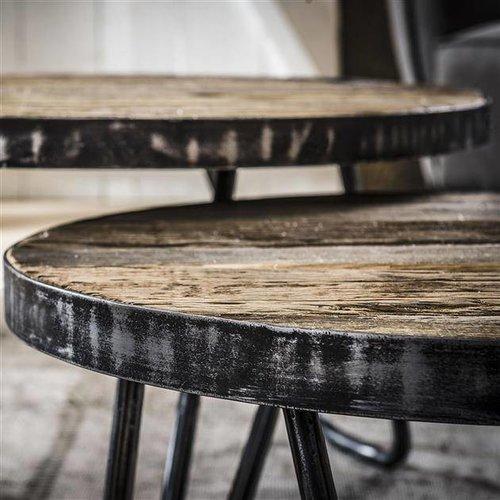 Alaska Salontafel set/2 rond/metalen rand