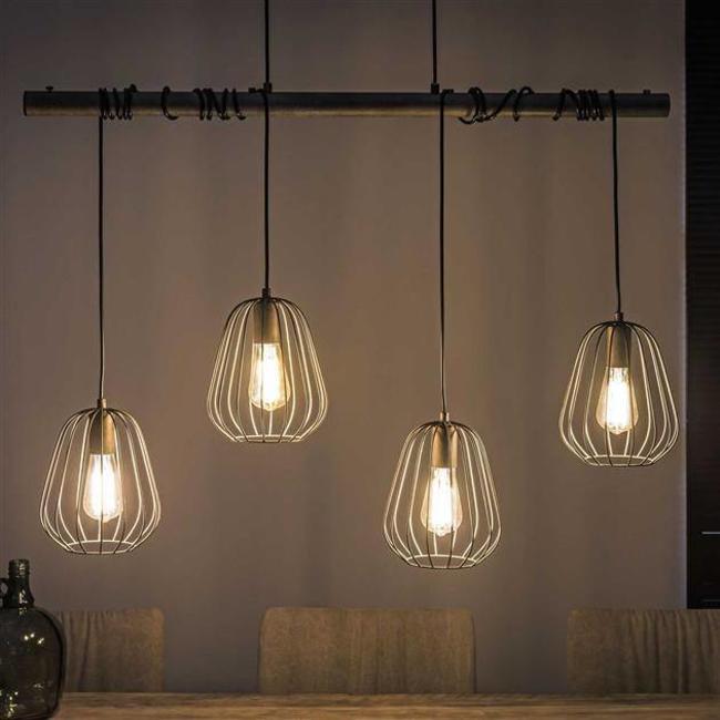 Alaska Hanglamp 4xØ18 lampoon