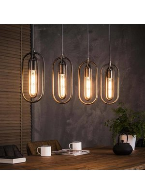 Alaska Hanglamp Industrieel Ovaal, 4-Lampen Ø16cm