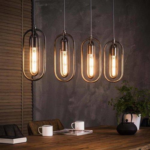 Alaska Hanglamp 4x dubbel ovaal