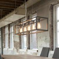 Hanglamp 5L rechthoek 4-kante buis