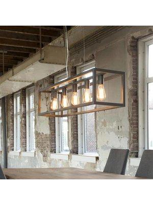 Alaska Hanglamp Metalen Kooi, 4-Lampen 125cm