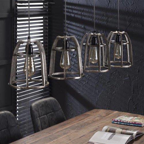 Alaska Hanglamp 4xØ21 basket conisch