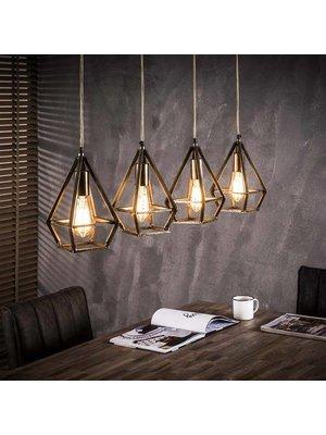 Alaska Hanglamp Druppel Industrieel, 4-Lamps Ø11cm