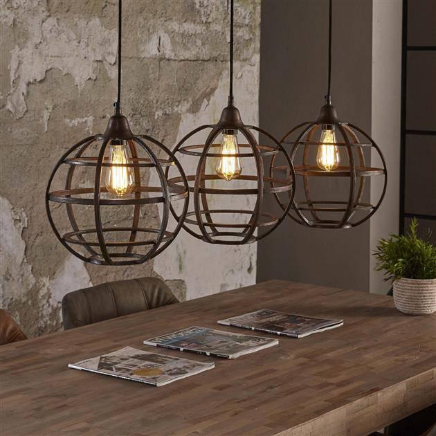 Alaska Hanglamp 3xØ33 globe