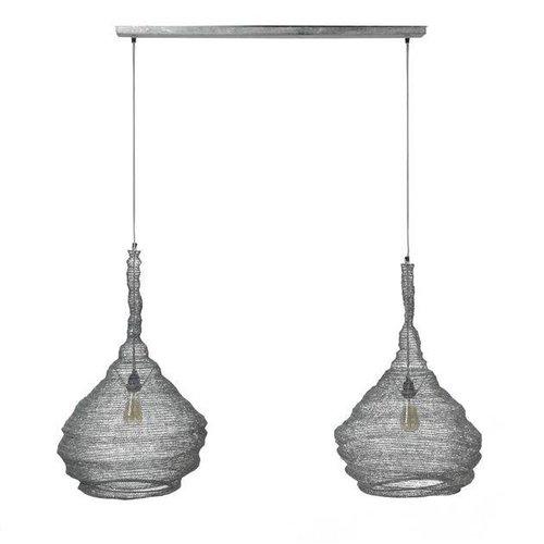 Alaska Hanglamp 2xØ45 mesh trechter