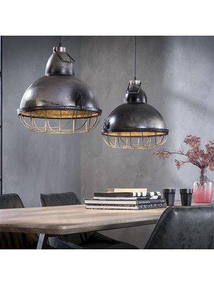 Alaska Hanglamp Industrieel met raster, 2-Lamps Ø38cm
