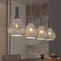 Hanglamp 4L industry concrete kegel grijs