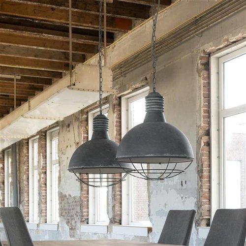 Alaska Hanglamp 2xØ41 raster industry concrete