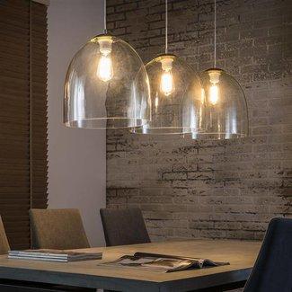 Alaska Hanglamp 3xØ33 glazen kap