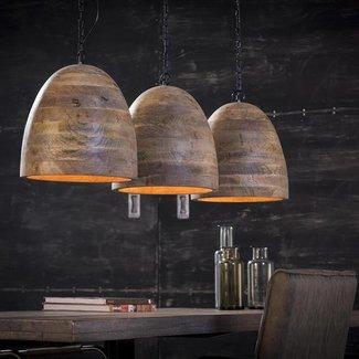 Alaska Hanglamp 3xØ30 houten kap