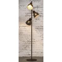 Vloerlamp 3L aged iron bruin
