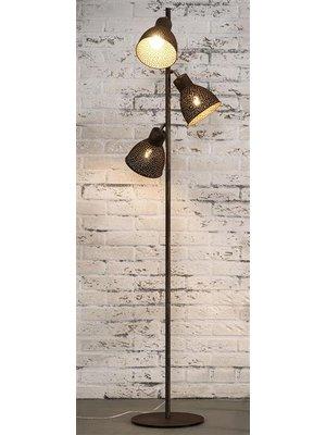 Alaska Vloerlamp Aged Grijs, 3-Lampen