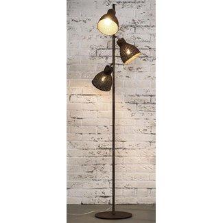 Alaska Vloerlamp 3L aged iron bruin