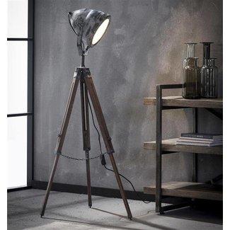 Alaska Vloerlamp iron houten statief