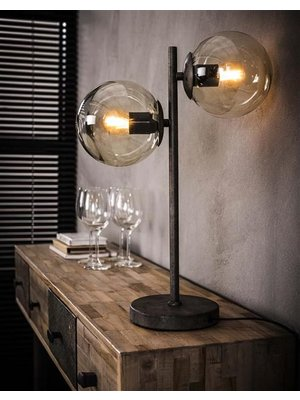 Alaska Tafellamp Ronde Bol, 2-Lampen