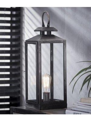 Alaska Tafellamp Lantaarn Vierkant Glas