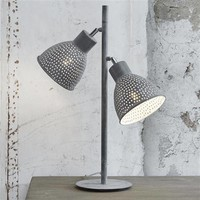Tafellamp 2L aged iron grijs