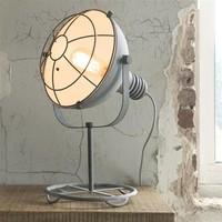 Tafellamp ronde voet raster industry concrete