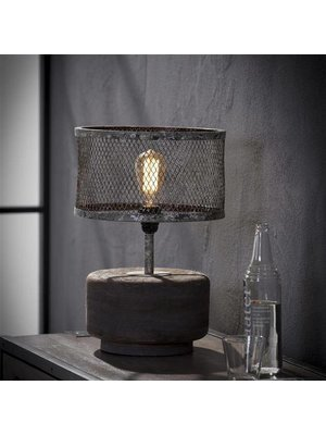 Alaska Tafellamp Raster met Houten Voet