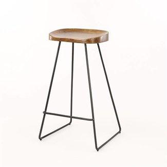 IW Collection Alaska Barstoel houten zitting