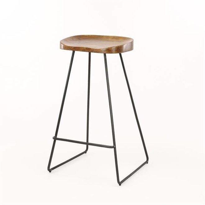 Barstoel houten zitting