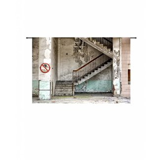 Urban Cotton Wandkleed 'Concrete Stairs' 145 x 190 cm