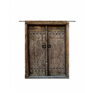 Urban Cotton Wandkleed 'Old Doors' 190 x 145 cm