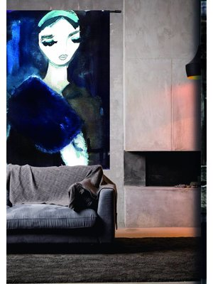 Urban Cotton Wandkleed 'Lady in Blue' 190 x 145 cm