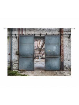 Urban Cotton Wandkleed 'Spinning Doors' 145 x 190 cm