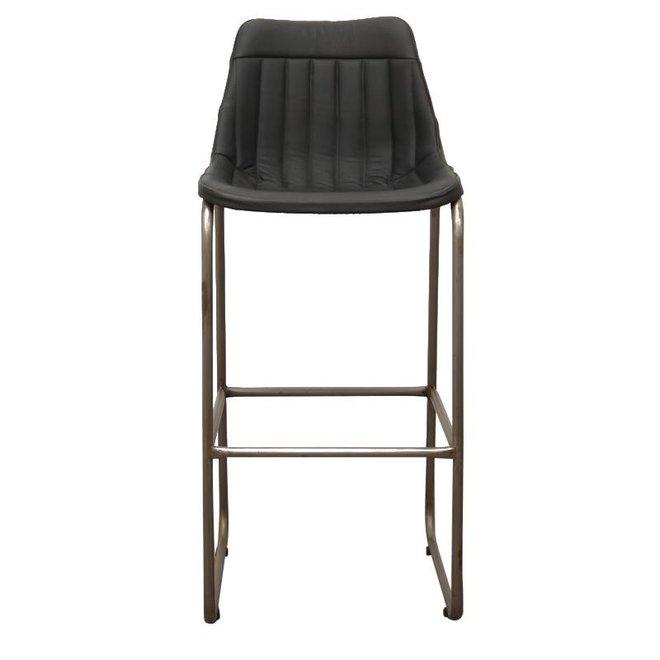Barstoel zwart streep