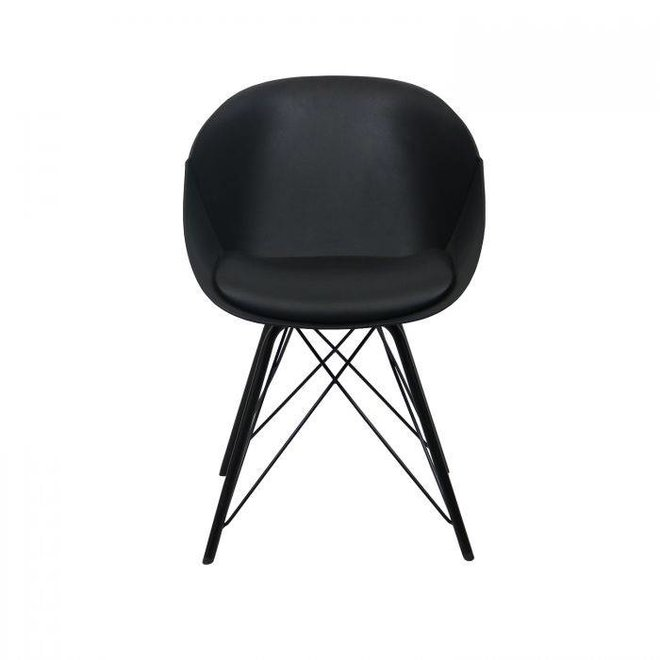 Designstoel Metal Jax -Zwart